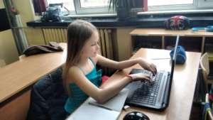 A girl using Khan Academy at 137th School in Sofia