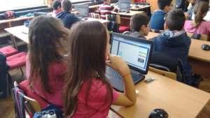 Girls using Khan Academy at 137th School in Sofia