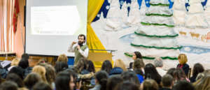 Khan Academy presented to students and Sofia mayor