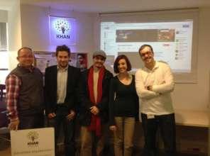 Our Chairman meeting the Turkish Khan Academy team
