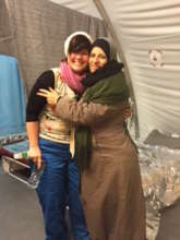 Refugee mother receives a prenatal check-up