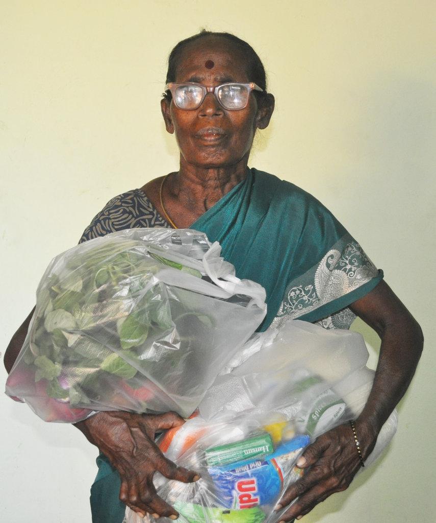 food groceries to neglected elders