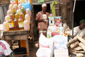 A proud shop owner