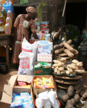 Selling vegetables and other products
