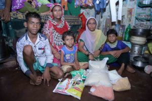 With donation of dry rations
