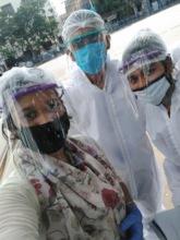 Tiljala SHED team in full PPE