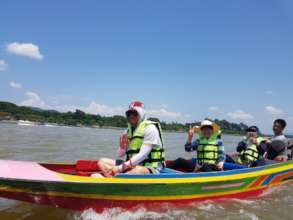 North Korean refugees passing Mekong River