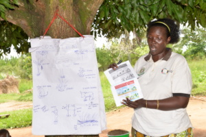 Native Seeds Project team training farmers