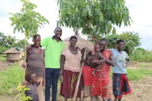 Our farmers with their growing trees