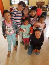 Rosanna (Our Project Manager) with the children