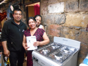 A new oven for Yurani's parents