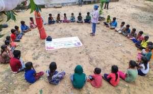 Nutrition Awareness Class with Street & Slum Kids