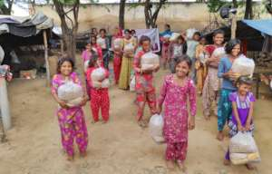 Nutrition Food Packet Distribution to Kids