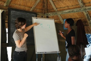 Volunteer teaching Maths