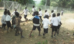 Students playing at school