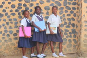 These girls are thankful for their new supplies
