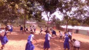 Children playing on the school playground