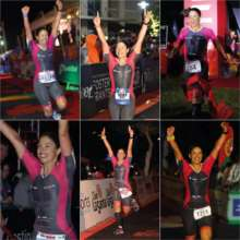 Maria's 6 Ironman finishes on 6 continents.