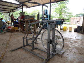 Bicycle to Powered a Corn Grinder