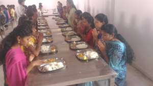 Children enjoying Food