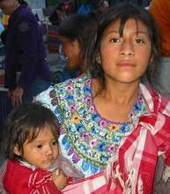 A young Guatemalan mother and her child