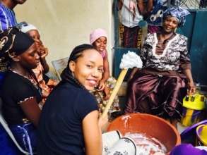Rose makes soap with SGBV survivors in Mali