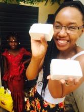 Peace Fellow Rose Twagirumukiza in Mali with soap!