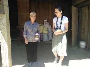 Ai Hoang (right) with Mai Thi Loi, an AO survivor