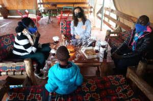 Anna celebrates her birthday in Uganda