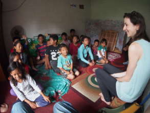 Lauren Purnell worked with brick kids in Nepal