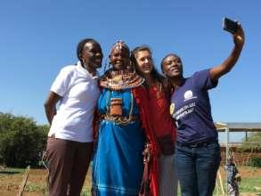 Samburu selfie: Peace Fellow Talley in Kenya