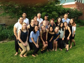 The 2016 Peace Fellows and AP interns at training