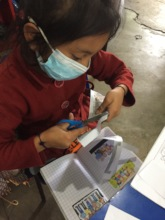 3rd grade student working on some homework