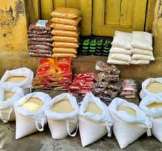 Relief materials given during pandemic COVID-19
