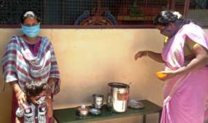 Lunch to our ELC children received by a mother