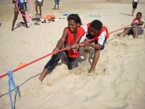 Ludwe and Onele work together on our team building
