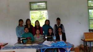Tailoring training for girls in Myanmar