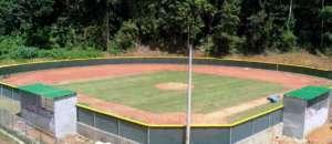 Infield baseball park