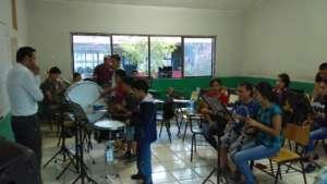 David in his percussion class