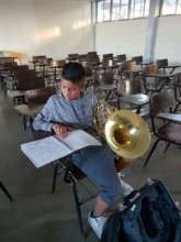 French horn student