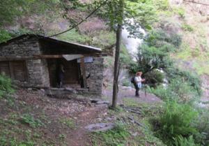 Ghoti power house nestling below waterfall