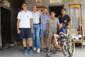 Deni, David, Brad & parents - wheelchair handover