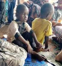 Children in the Falhadie IDP Camp