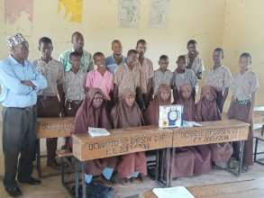 Class 7 students of Bahati Primary School