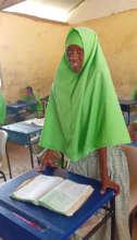 Zainab sharing her experience