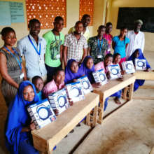 Bubesa Primary Students with Solar Lanterns