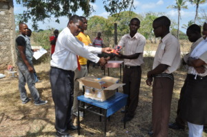 Distributing solar lamps from our first trial