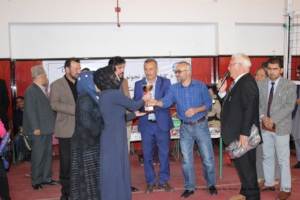 Thanking Ayesha-e-Durani school for being the host