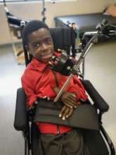 Thando and his new wheelchair