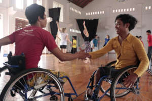 Wheelchair users can dance as well!
